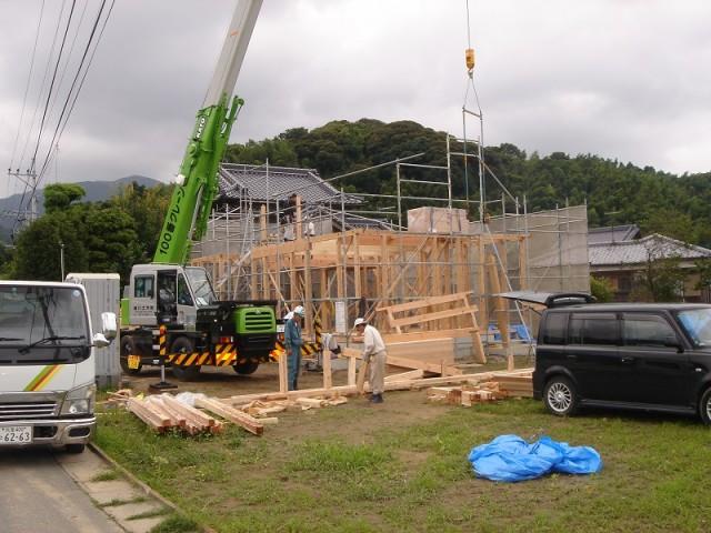 糸島市の注文住宅 H様邸戸建て 上棟式掲載写真1
