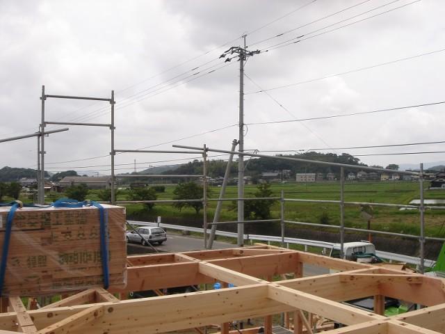 糸島市の注文住宅 H様邸戸建て 上棟式掲載写真4