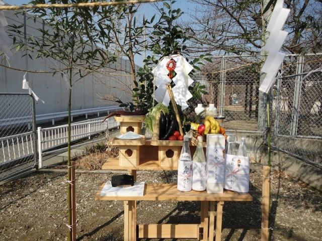 福岡市東区の注文建築 寿司の次郎長 地鎮祭掲載写真1