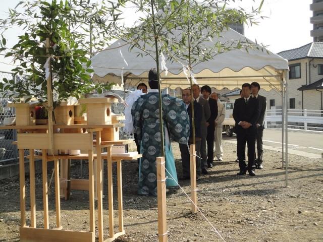 福岡市東区の注文建築 寿司の次郎長 地鎮祭掲載写真3