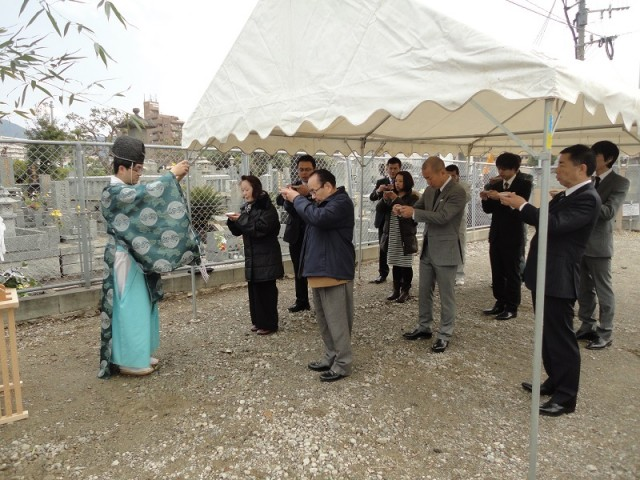 福岡市東区の注文建築 寿司の次郎長 地鎮祭掲載写真5