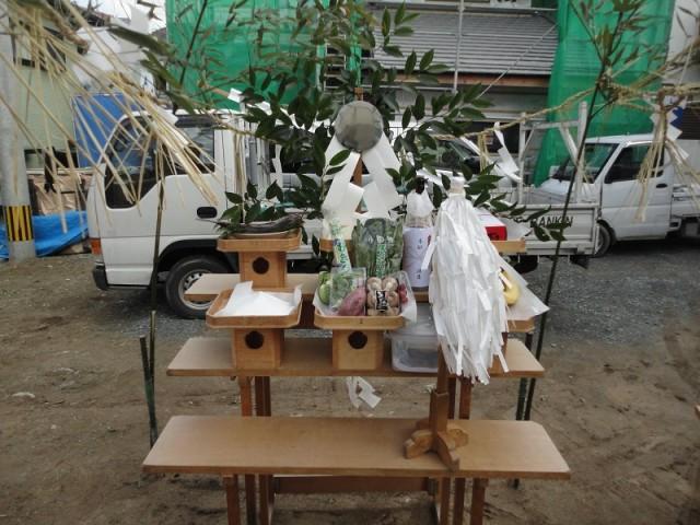 福岡市城南区の注文住宅建築 W様邸地鎮祭掲載写真1