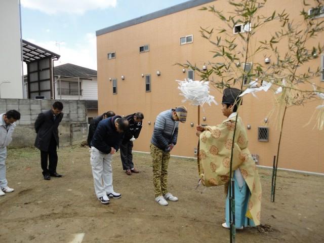 福岡市城南区の注文住宅建築 W様邸地鎮祭掲載写真2